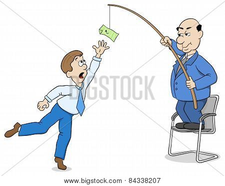 Boss Lures An Employee With Money