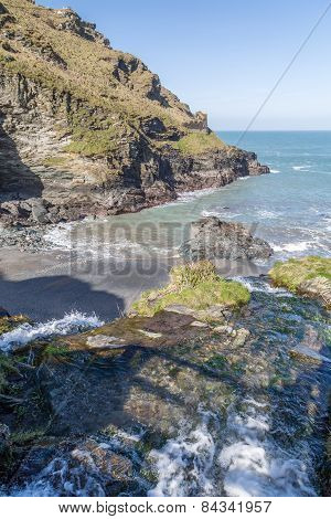 Tintagel in cornwall england uk