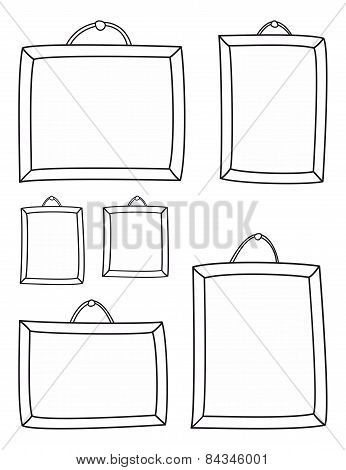 Hand drawn decorative vector frames isolated on white background