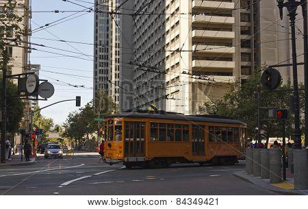 Milanese Tram On San Francisco's Road