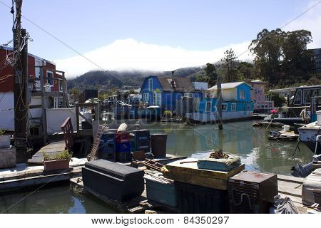 Sausalito Houseboats, In The San Francisco Bay Area