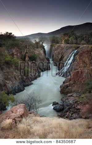 Epupa Gorge. The border of Namibia and Angola poster
