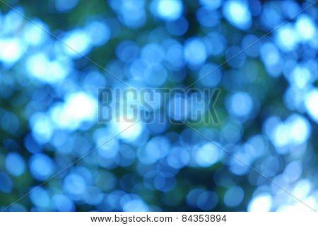 Bright Blue Dots Of Light