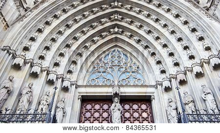 Architectural details of Barcelona cathedral