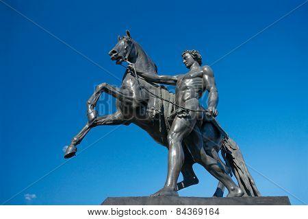 Sculpture Of Horse Tamer, Anichkov Bridge, Saint Petersburg, Russia