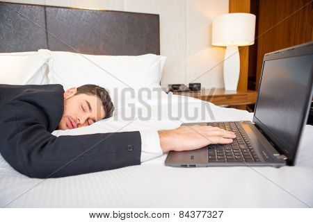 Businessman in the luxury hotel