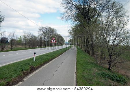 Road And Bike Path