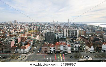 Panorama On Antwerp, Belgium