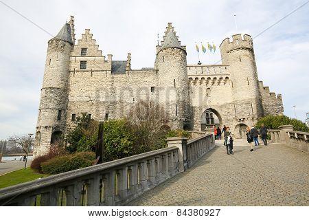 Het Steen, The Oldest Building In Antwerp, Belgium