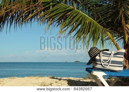 Beach Gear On Sun Lounge
