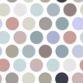 Polka Dot Background, Seamless Pattern. Pastel Color Dot On White Background. Vector