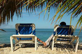 Couple Enjoying Blue Sea