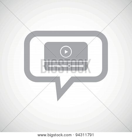 Mediaplayer grey message icon