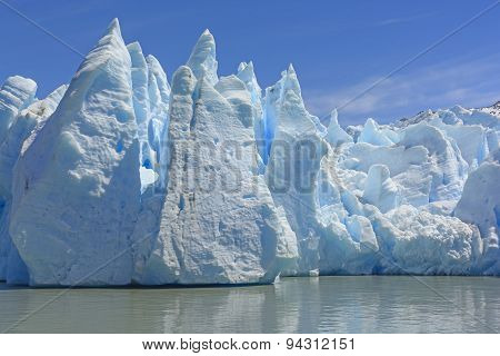 Dramatic Ice Formations At The Toe Of A Glacier
