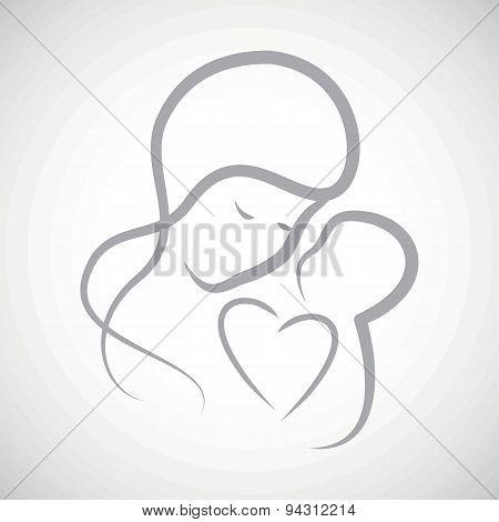 Grey mothercare icon