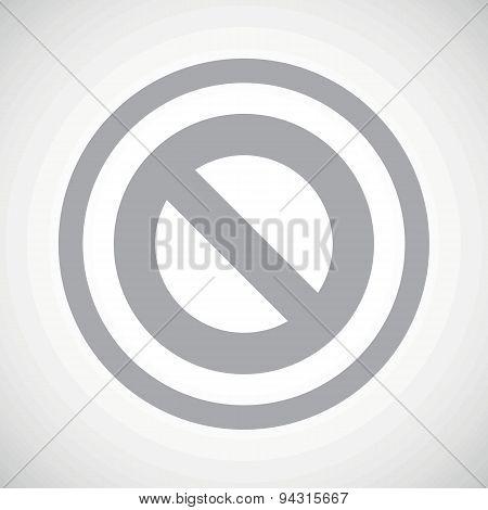 Grey NO sign icon