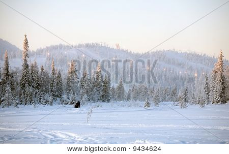Winter Resort Landscape