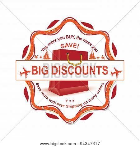 Big Discounts - Orange grunge rubber.