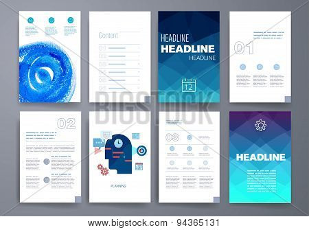 Templates. Design Set of Web, Mail, Brochures. Mobile, Technology, and Infographic Concept. Modern f