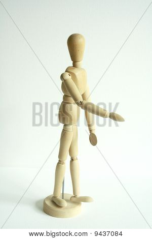 Wooden puppet.