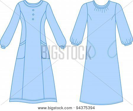 House Dress, Nightdress Front View