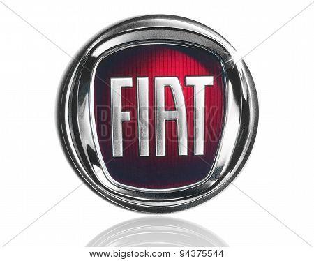 KIEV UKRAINE - MARCH 21 2015: Fiat logo