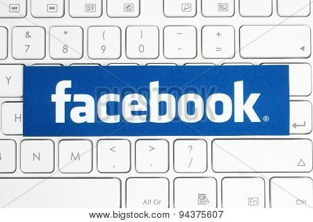 KIEV UKRAINE - APRIL 15 2015: Facebook logo