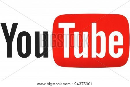 KIEV UKRAINE - MAY 26 2015: YouTube logotype