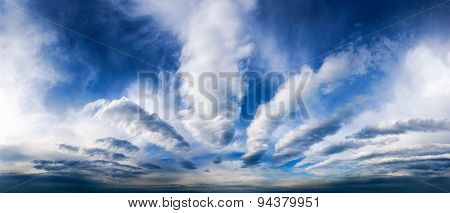 Sky Panorama With Fantastic Clouds