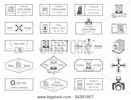 Set Of Vector Badges Video