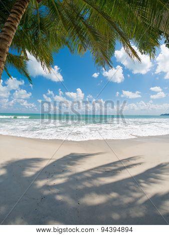 tropical beach with coconut palm. Maeman beach, koh Samui, Thailand