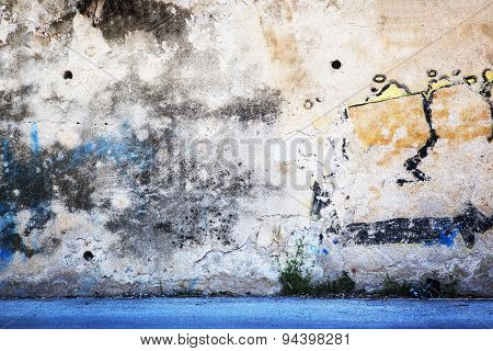 Urban Grunge Wall 'Grafitti' Background Texture.