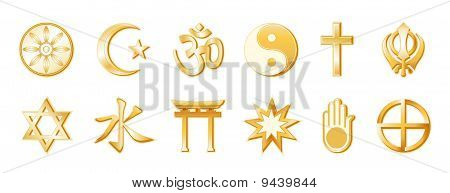 World Religions, White Background