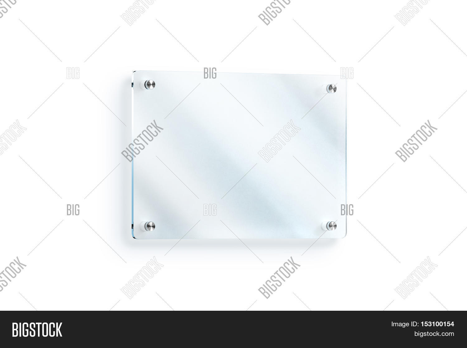 Blank Glass Sign Plate Image Photo Free Trial Bigstock