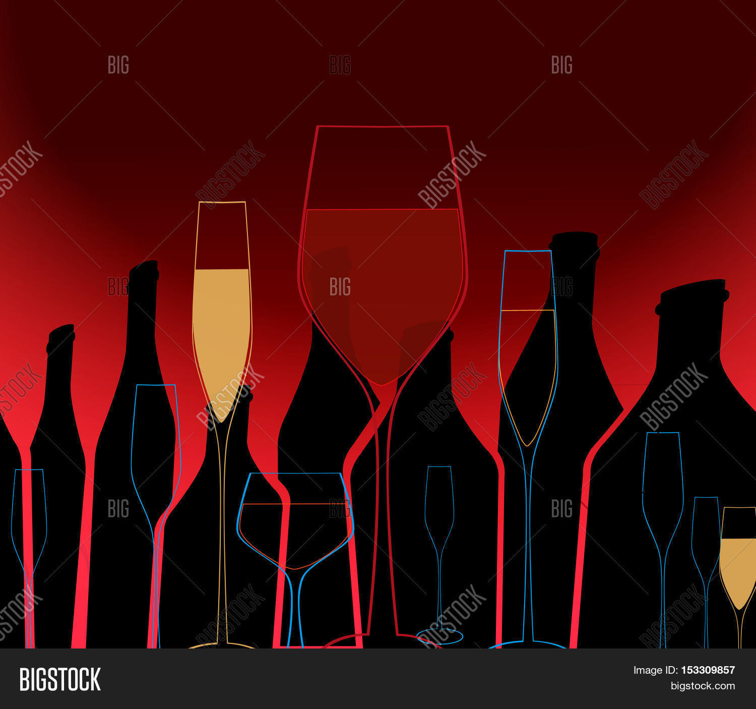 Alcoholic Bottles Vector Photo Free Trial Bigstock
