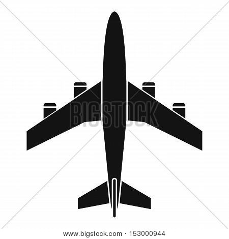 Airplane icon. Simple illustration of airplane vector icon for web design
