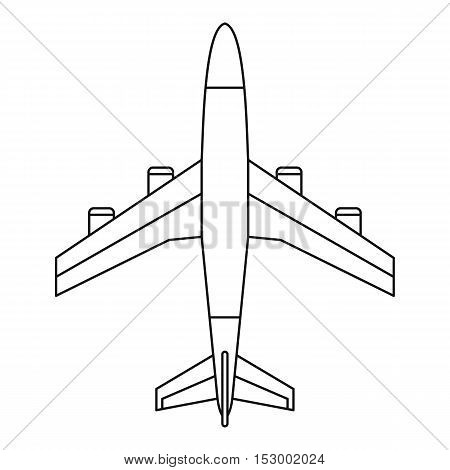 Airplane icon. Outline illustration of airplane vector icon for web design