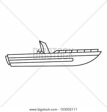 Motor speed boat icon. Outline illustration of boat vector icon for web design