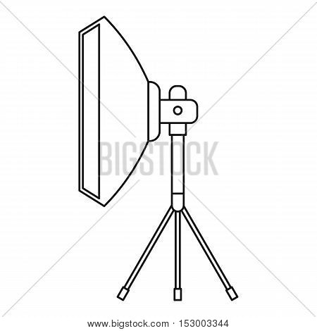 Studio light bulb in softbox icon. Outline illustration of Studio light bulb in softbox vector icon for web