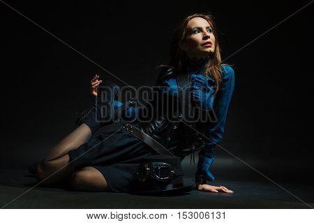 Retro Lady Sitting.