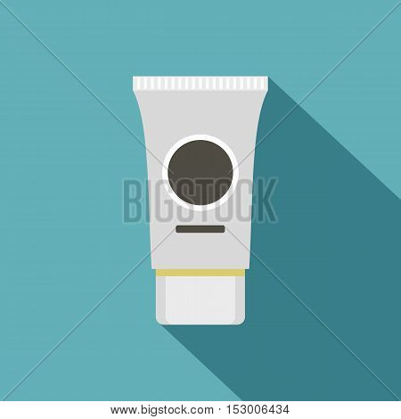 Tube of cream or gel icon. Flat illustration of tube of cream or gel vector icon for web isolated on light blue background