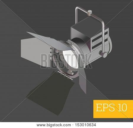 strobe flashlight eps10 vector illustration. octabox monolight