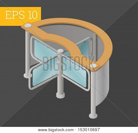 tourniquet eps10 vector illustration. gate turnstile barrier