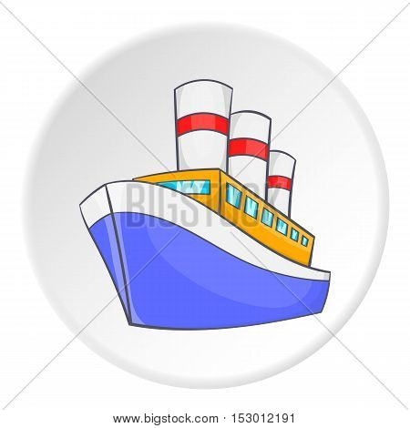 Steamship icon. Isometric illustration of steamship vector icon for web
