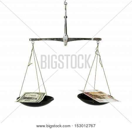 Dollar and rouble are thrown into the scale