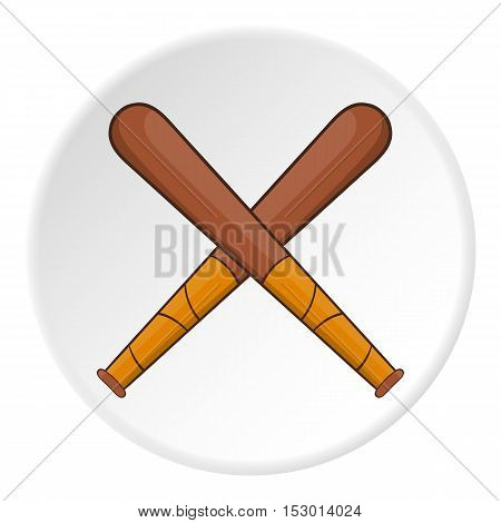 Baseball bats icon. Flat illustration of baseball bats vector icon for web