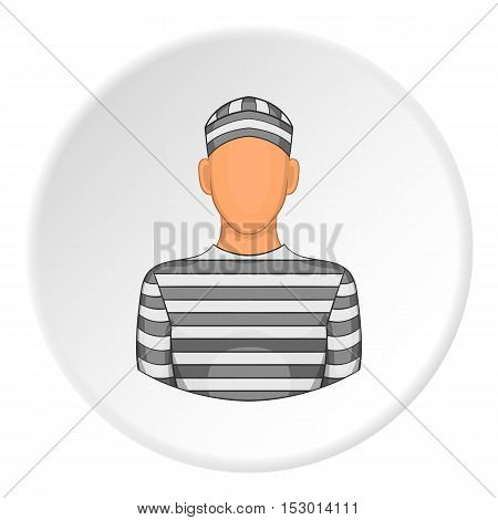 Prisoner icon. Flat illustration of prisoner vector icon for web
