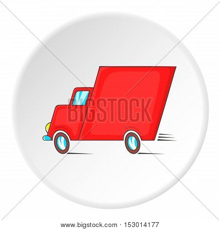 Lorry icon. Isometric illustration of lorry vector icon for web