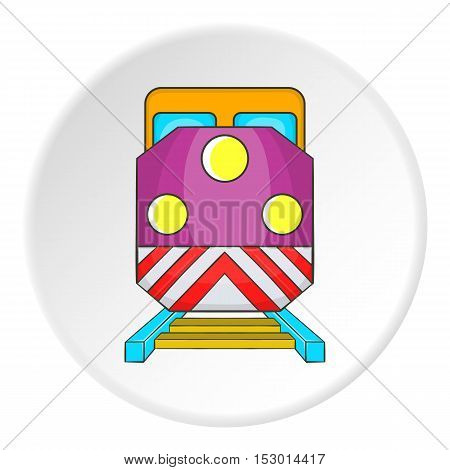 Train icon. Flat illustration of train vector icon for web