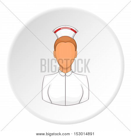 Nurse icon. Flat illustration of nurse vector icon for web